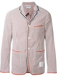 Thom Browne Striped Blazer Red