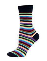 Hot Sox Striped Trouser Socks Black