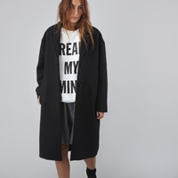 Wood Wood Sonia Coat Black