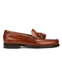 Bass Weejuns Men's Larkin Tassle Leather Loafers Mid Brown