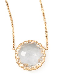 Rose Gold Chain Rock Crystal Pendant Necklace 16'L Ivanka Trump
