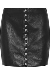 Versus By Versace Leather Mini Skirt Black