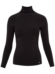 Ted Baker Fitted Roll Neck Jumper Black