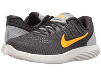 Nike Lunarglide 8 Wolf Grey Anthracite Cool Grey Bright Citrus Men's Running Shoes Brown
