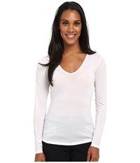 Jamie Sadock Sunsence Lightweight Long Sleeve Layering Under Garment Top With 30 Spf Sugar White Women's Long Sleeve Pullover