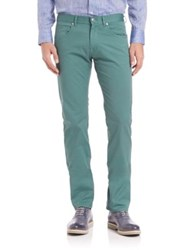 Faconnable Flat Front Pants Aqua Green