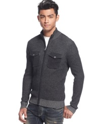 Inc International Concepts Dunne Full Zip Mock Neck Sweater