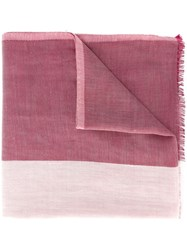 Bally Frayed Scarf Pink And Purple
