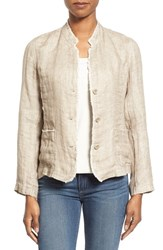 Women's Eileen Fisher Organic Linen Mandarin Collar Jacket