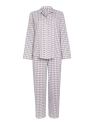 Cyberjammies Gingham Check Pyjama Set Grey