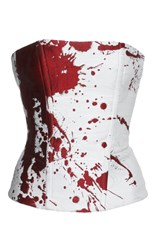 Haider Ackermann Splatter Paint Bustier Top White