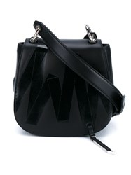 Christopher Kane Tape Print Cross Body Bag Black