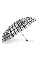 Marc By Marc Jacobs 'Stacked Logo' Umbrella Black Multi
