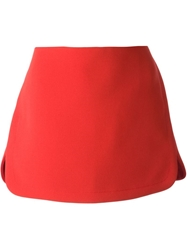 Vanessa Bruno High Waisted Mini Skirt Red