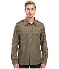 Fjall Raven Ovik Wool Shirt Olive Men's Long Sleeve Button Up