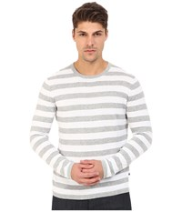 Michael Kors Striped Cotton Crew Top Heather Grey Men's Sweater Gray