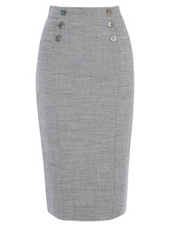 Karen Millen Tailored Folded Skirt Grey