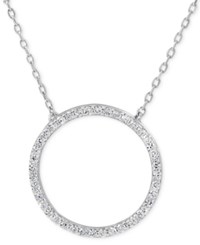 Giani Bernini Cubic Zirconia Circle Pendant Necklace In Sterling Silver Only At Macy's