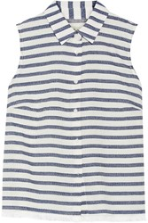 Madewell Moment Striped Cotton Blend Shirt White