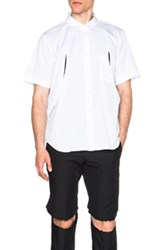 Comme Des Garcons Homme Plus Cut Out Shirt In White