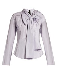 Marc Jacobs Decorative Pussybow Taffeta Blouse Light Purple