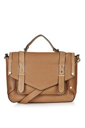 Topshop Smart Satchel Bag Tan