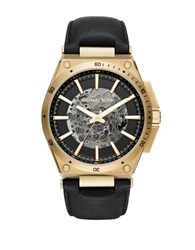 Michael Kors Wilder Stainless Steel Automatic Strap Watch Black