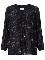 John Lewis Collection Weekend By Flower Shadow Print Top Black