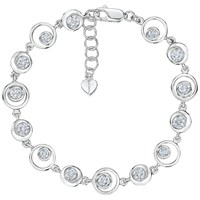 Jools By Jenny Brown Cubic Zirconia Open Circles Bracelet Silver