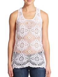 Young Fabulous And Broke Echo Lace Tank Top White