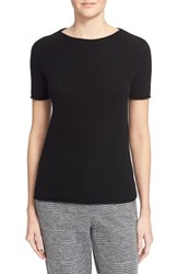 Theory Women's 'Tolleree' Short Sleeve Cashmere Sweater Black