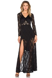 Nightcap Jirapa Lace Gown Black