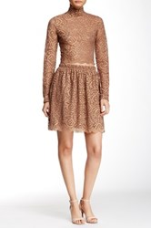 Soprano Lace Mini Skirt Brown