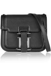 Sandro Aria Leather Shoulder Bag Black