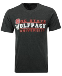 Colosseum Men's North Carolina State Wolfpack Verbiage Stack T Shirt Charcoal
