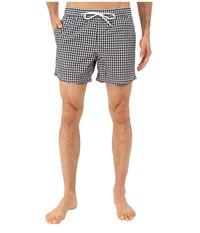 Lacoste Taffeta Gingham Swim Short 5 Navy Blue White Men's Swimwear