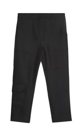 Alexander Wang Twill Cargo Trousers Black