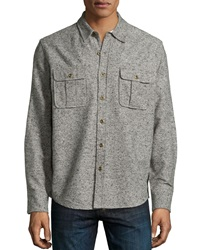 Ag Adriano Goldschmied Long Sleeve Flap Pocket Shirt Jacket Gray