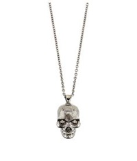 Alexander Mcqueen Twisted Skull Necklace Silver
