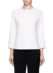 Vince Open Back Cady Crepe Blouse White