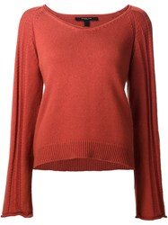 Derek Lam Flared Sleeve Jumper Yellow And Orange