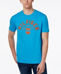 Tommy Hilfiger Men's Big And Tall Freshman Graphic Print T Shirt Blithe