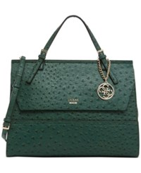 Guess Huntley Top Handle Flap Front Satchel Forest