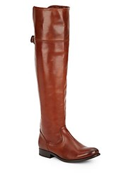Frye Melissa Leather Blend Tall Boots Cognac