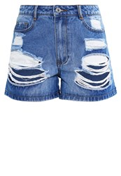 Missguided Petite Denim Shorts Stonewash Light Blue