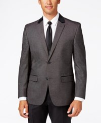 Alfani Red Men's Slim Fit Black White Neat Evening Jacket Only At Macy's