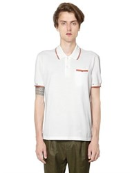 Maison Martin Margiela Destroyed Cotton Pique Polo