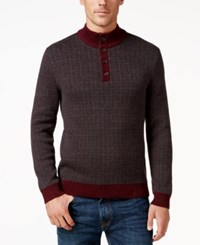 Tasso Elba Men's Four Button Geometric Sweater Only At Macy's Port