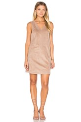 1.State Faux Suede Shift Dress Brown