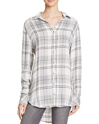 Bella Dahl Hallie Plaid Shirt Heather Grey